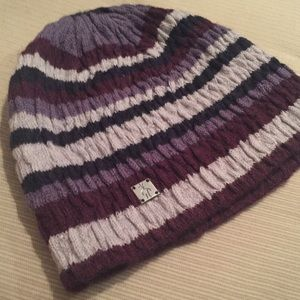 Smartwool Stylish Beanie Hat in Purple/ Grey NWOT